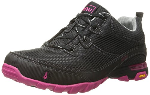 Ahnu Women's Sugarpine Air Mesh Hiking Shoe, Black/Pink, 10 M US