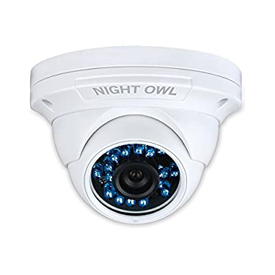 Night Owl Security Hi-Resolution 900 TVL Security Dome Camera, Audio Enabled, with 75-Feet of Night Vision