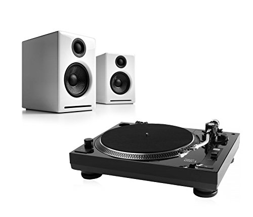 Music-Hall-USB-1-Turntable-Package-With-Pair-of-Audioengine-A2-Desktop-Speakers-White
