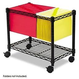 Safco - Wire Mobile File One-Shelf 14W X 24D X 20-1/2H Black \