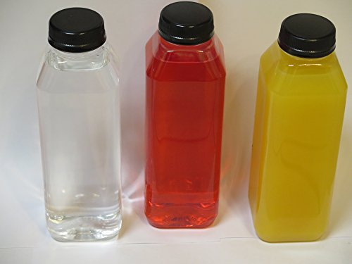 16 Oz. Empty Clear Plastic Juice Bottles with Cap - 18-sets (Glass Sports Bottle 32 Oz compare prices)