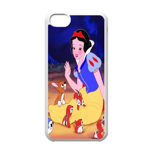 Snow White Princess Cartoon Productive Back Phone Case For Iphone 5c -Pattern-16