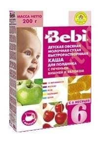 Bebi - Baby Milk Porridge with cookies cherry and apple for Afternoon Snack from 6 Monts 200g