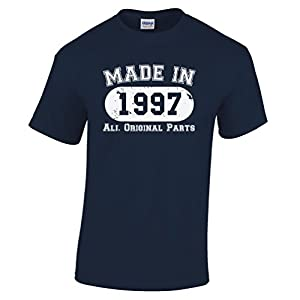 Made In 1997 Limited Edition Birthday 18th T Shirt Gift Nostalgic Retro Year Mens Regular Fit Small - XXLarge Multiple Colours