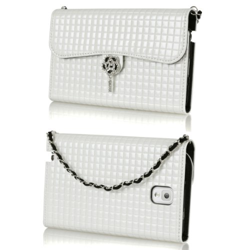 Ihand Handbag Clutch Wallet Case With Bling For Samsung Galaxy Note 3 Iii [Retail Package] - Ivory