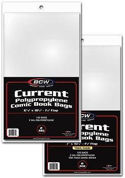 1000 Current Size Comic Book Bags Sealed Case