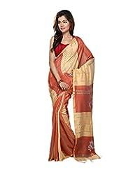 Bengal Handloom Silk Block Print Saree - B00WFUX4XS