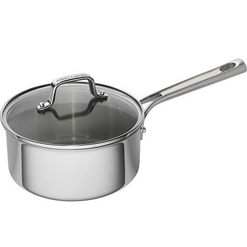 Emeril Lagasse 62856 Tri-Ply Stainless Steel Saucepan, 3 quart, Silver (Emeril Pots And Pans compare prices)