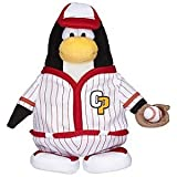 Disney Club Penguin 6 1/2'' Limited Edition Penguin Plush - Red Baseball Player