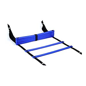 Blue 12-Rung 15 feet Durable Agility Ladder - ²C954Z