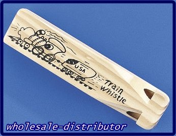12 wooden wood TRAIN whistles