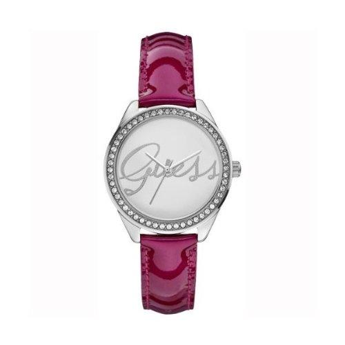 Guess Analog Silver Dial Women's Watch - W0229L3 (Guess Analog Silver Dial compare prices)