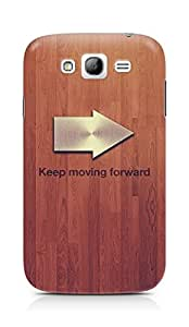 Amez designer printed 3d premium high quality back case cover for Samsung Galaxy Grand i9082 (Keep moving forward blue quote tree texture)