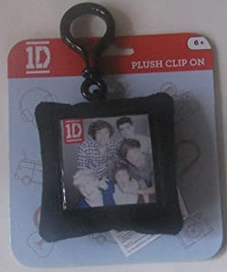 One Direction Plush Square Backpack Clip - Group by One Direction