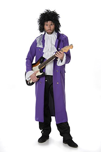 Men's Pop Icon Purple Halloween Costume. Become the Purple Prince of pop. Three sizes available.