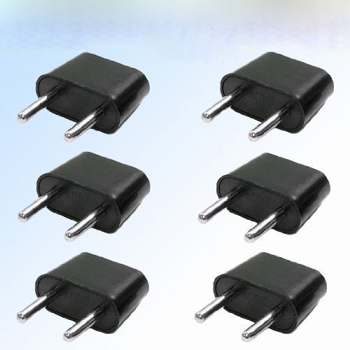 Generic Eu-6Pk 6-Pack American To European Outlet Plug Adapter Portable Consumer Electronics Home Gadget