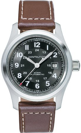 Hamilton Men's H70555533 Khaki Field Black Dial Watch