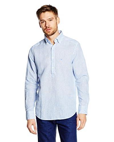 Pedro del Hierro Camisa Hombre Pop Over Azul