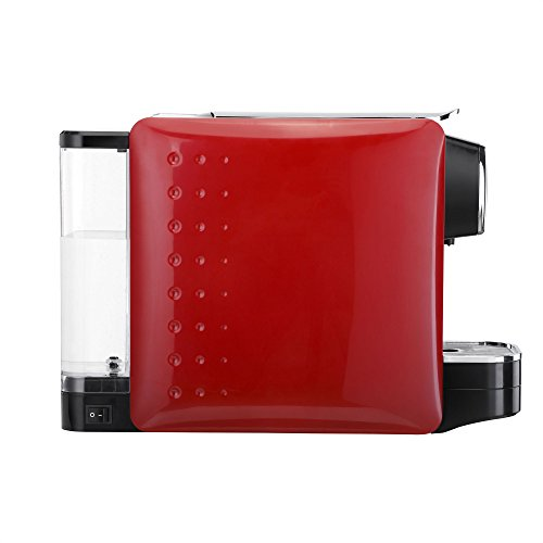 VonShef Coffee Pod Machine - For Nespresso Compatible Capsules - 1250W - in Stylish Red