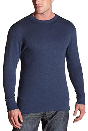 Duofold Men's Midweight Long Sleeve Crew, Blue-Jean, Small