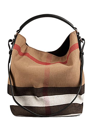 Burberry Women s  Medium Ashby  Canvas Check and L…