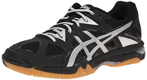 ASICS Women's Gel Tactic Volleyball Shoe, Black/Silver, 9 M US
