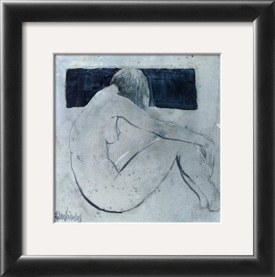 Studies from the Nude II Framed Art Poster Print by Heleen Vriesendorp, 13x13
