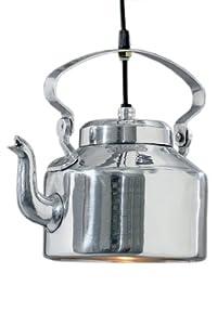 geniale deckenlampe modell 39 teekanne 39 aus aluminium in silber k che haushalt. Black Bedroom Furniture Sets. Home Design Ideas