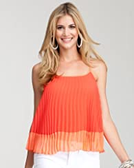 Accordion Pleat Colorblock Cami