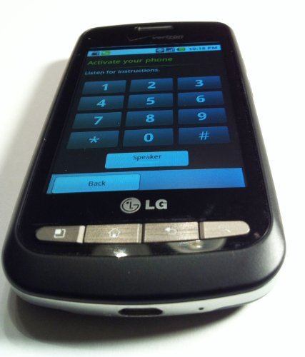 LG VS660 Vortex Cell Phone, Android Touch Screen. Black (Verizon) No Contract Required. Wi-Fi