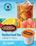 Celestial Seasonings Perfect Iced Tea Variety Pack, 22-Count K-Cups for Keurig Brewers