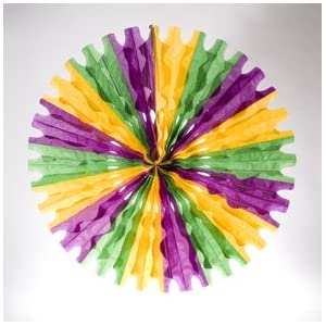 Click to buy Mardi Gras Art Tissue Fanfrom Amazon!