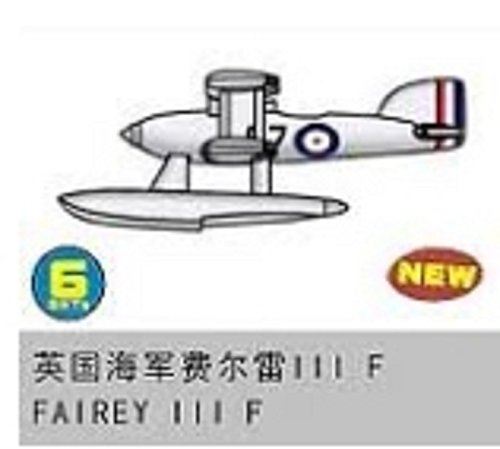 Trumpeter 1/350 British Fairey IIIF Recon Seaplane Aircraft Set for Warships (6-Box)