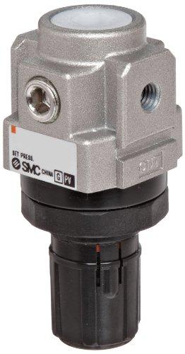 SMC AR10-M5H-Z Regulator, Relieving Type, 7.25 - 101 psi Set Pressure Range, 5 scfm, No Gauge, With Panel Nut, M5 Metric Thread