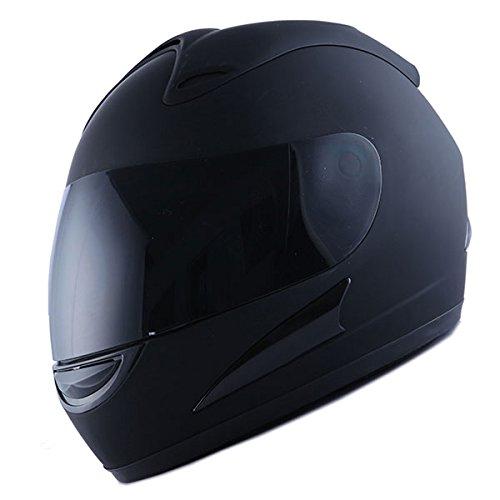 2478386b Motorcycle Street Bike Matt Black Full Face Helmet + Two Visors ...