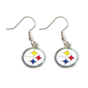 Pittsburgh Steelers Dangle Logo Earring Set Charm Gift from SteelerMania
