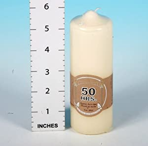 "Pillar Church Candle 2"" X 6"" 50hr by Salco"