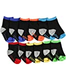 US Polo Assn. Boys 0-24 Months 6 Pack Socks (0-12 Months, Assorted)