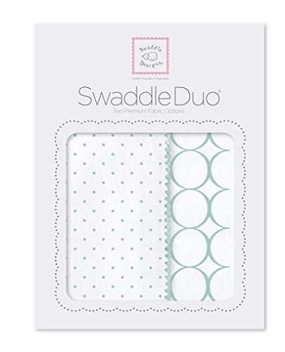 SwaddleDesigns SwaddleDuo, Classic Duo (Set of 2 in SeaCrystal)
