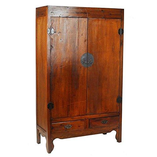 Armario de dos puertas de madera de Mahogany