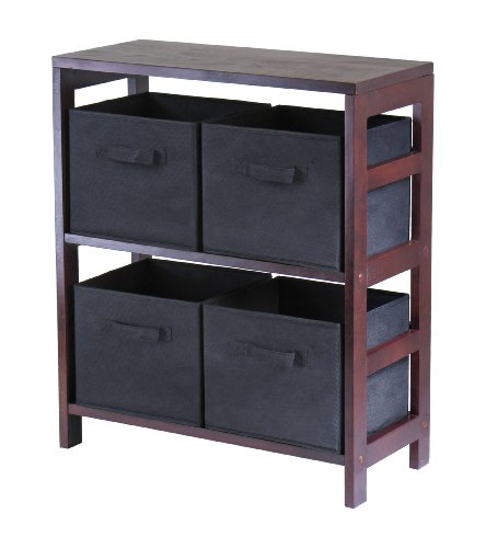 winsome-wood-capri-wood-2-section-storage-shelf-with-4-black-fabric-foldable-baskets