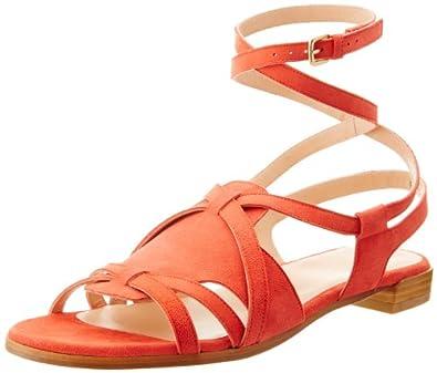 Stuart Weitzman Women's Greek Huarache Sandal,Pimento,5 M US