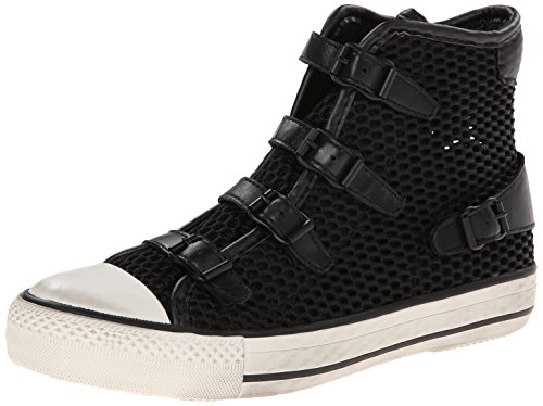 Ash Women's Vanessa Synthetic Fashion Sneaker, Black/Black/Black, 38 EU/8 M US