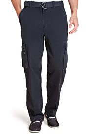 North Coast Utility Pure Cotton Straight Fit Cargo Trousers [T17-8517N-S]