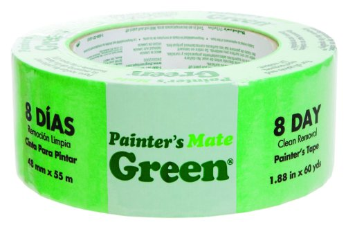 Painter's Mate 1042430 Green 8-Day Painting Tape, 1.88-Inch by 60-Yards, Single Roll