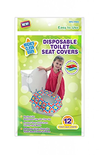 Mighty Clean Baby Disposable Toilet Seat Covers, 24 count (2 Packs of 12 Covers) - 1