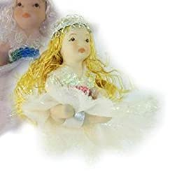 2.5 Inch Fairy with Long Blond Curled Hair and White Dress Box of 24