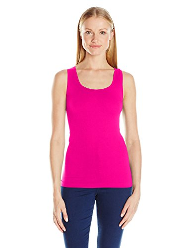 SUGARLIPS Women's Original Seamless Ribbed Tank Top, Hot/Fuchsia, One Size (Hot Pink Long Tank Top compare prices)
