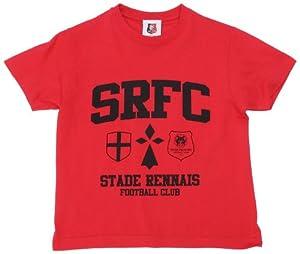 SRFC Stade Rennais T-shirt Logo Manche courte mixte enfant Rouge 10 ans