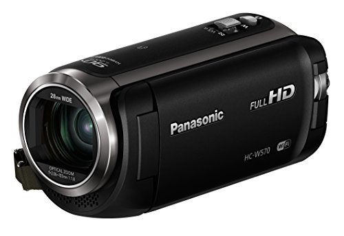 Panasonic HC-W570 Full HD Camcorder with 50x Optical Zoom (Black) - Refurbished